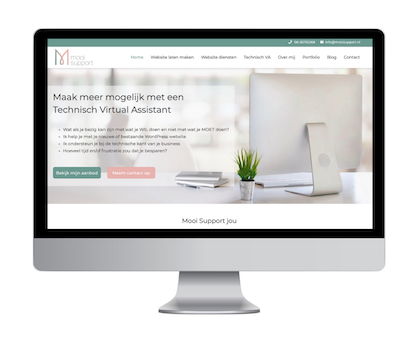 Website optimalisatie mockup Mooi Support